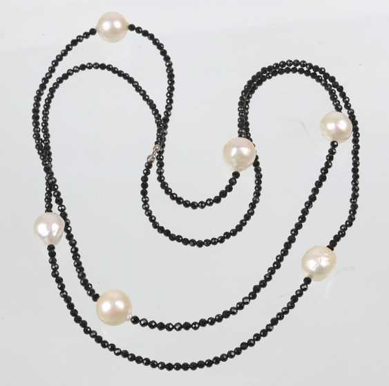 long Designer necklace with South sea pearls - photo 1