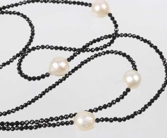 long Designer necklace with South sea pearls - photo 2