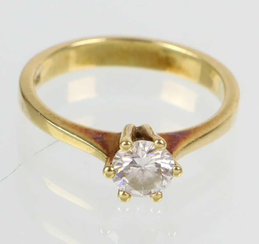 Brillant Solitär Ring 0,5 ct. - Gelbgold 585 - Foto 1
