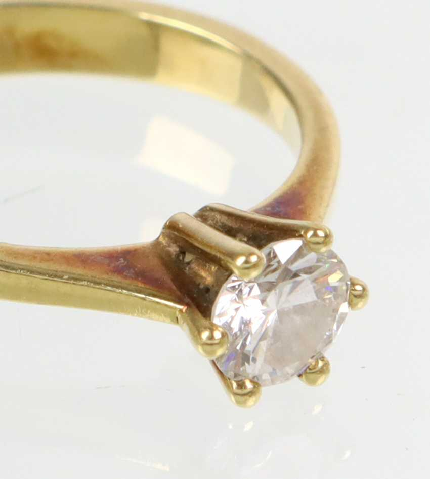Brillant Solitär Ring 0,5 ct. - Gelbgold 585 - Foto 2