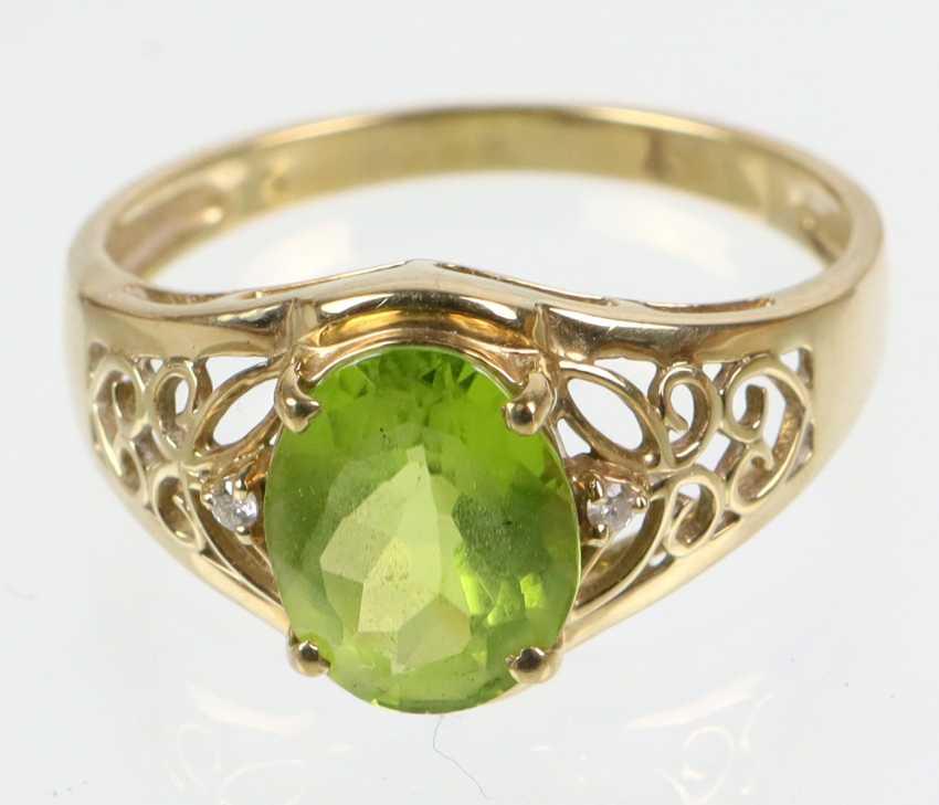 Peridot Ring - Gelbgold 375 - photo 1