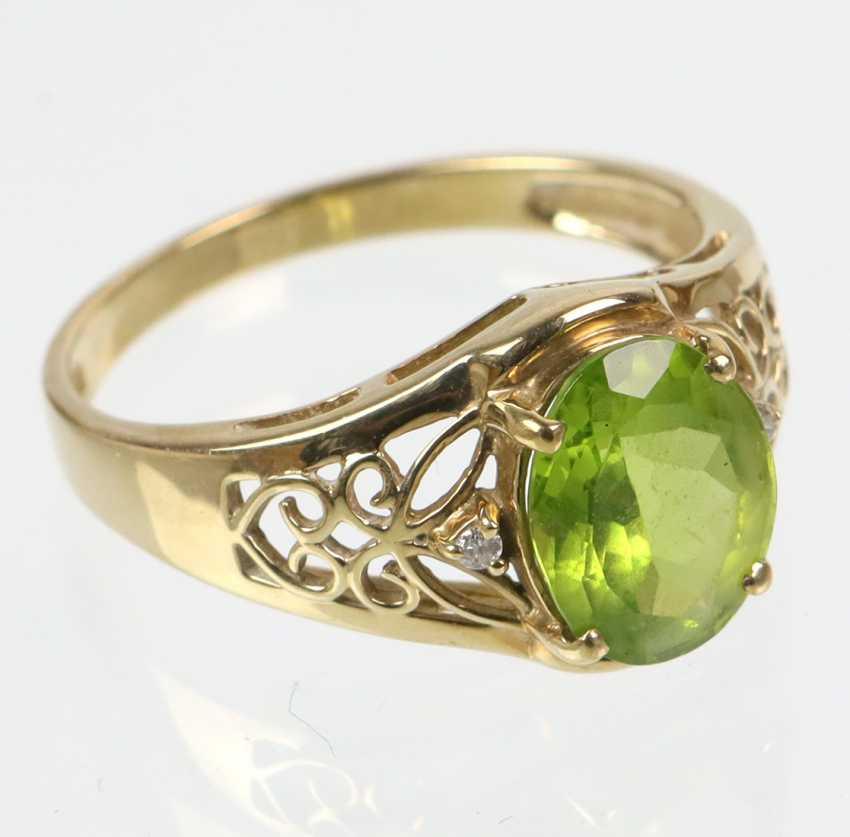 Peridot Ring - Gelbgold 375 - photo 2