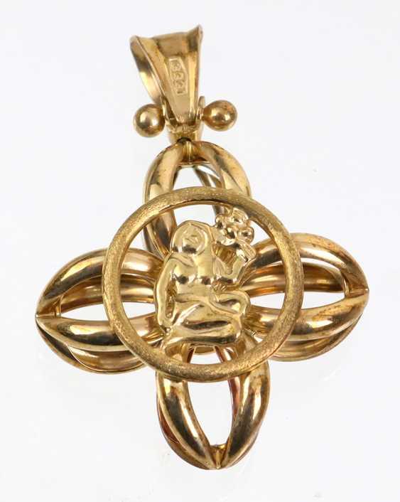 Триколор Подвески - Желтое Золото 333 - фото 1