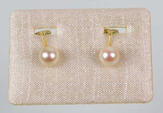 14-Karat Akoya pearl earrings - photo 1