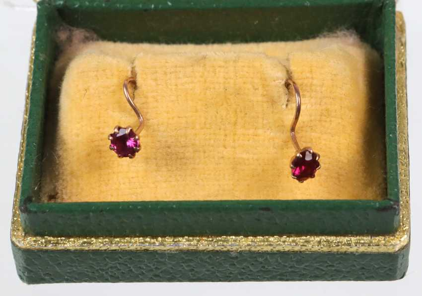14-Karat rose gold earrings - photo 1