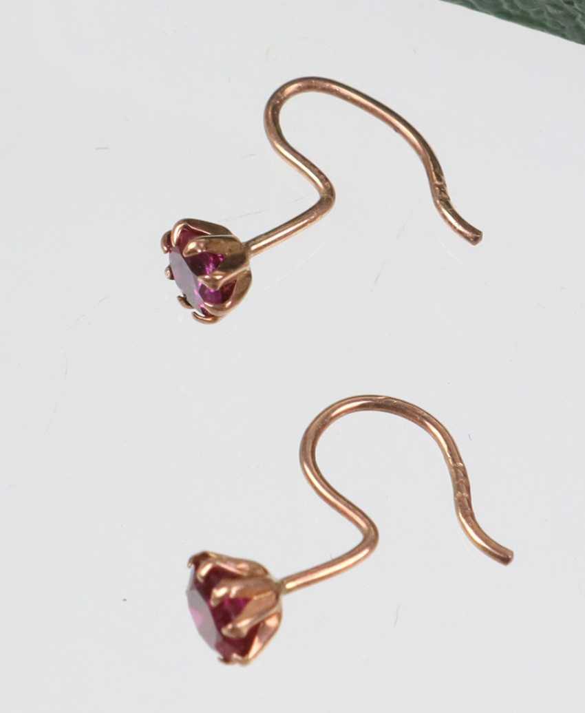 14-Karat rose gold earrings - photo 2