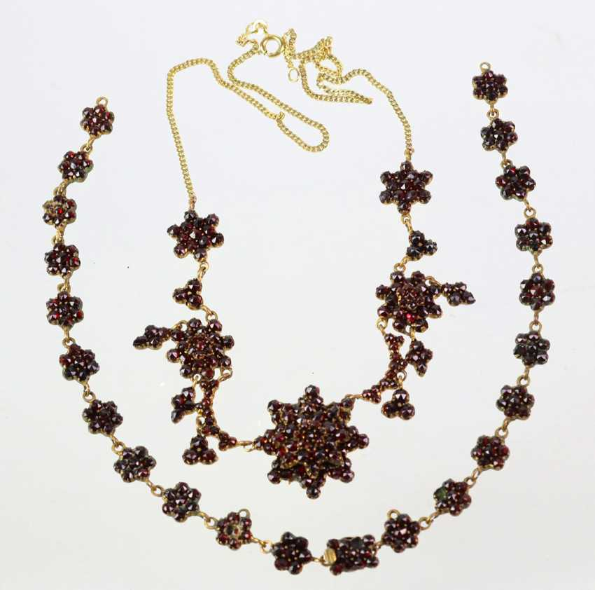 Garnet Necklace - Yellow Gold 333 - photo 1