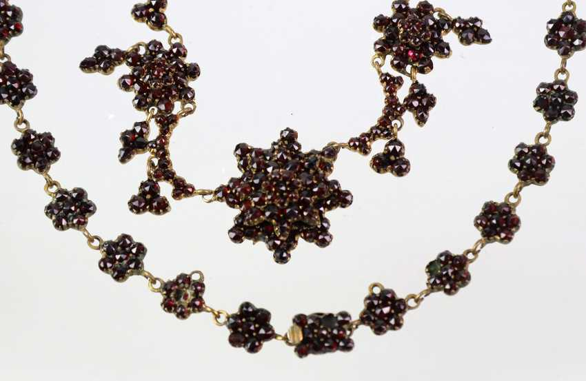 Garnet Necklace - Yellow Gold 333 - photo 2
