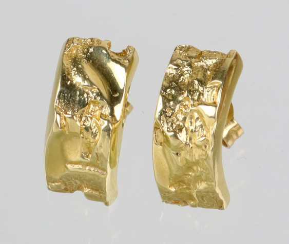 Plug-Hoop Earrings - Yellow Gold 585 - photo 1
