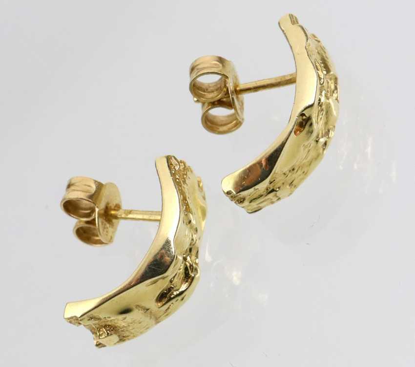 Plug-Hoop Earrings - Yellow Gold 585 - photo 2