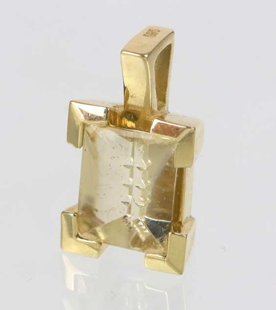 Beryl Pendant In Yellow Gold 585 - photo 1