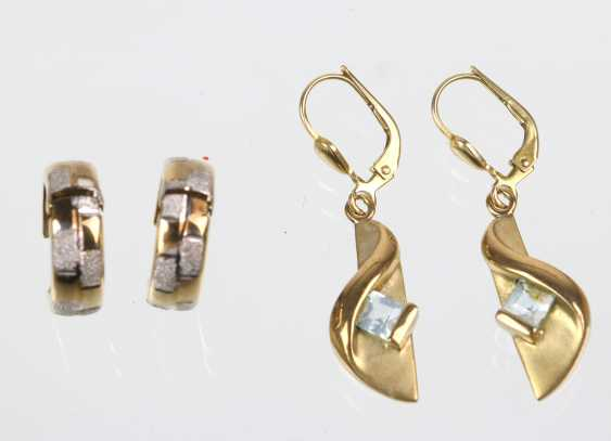 2 Pair Of Earrings - Yellow Gold 333 - photo 1