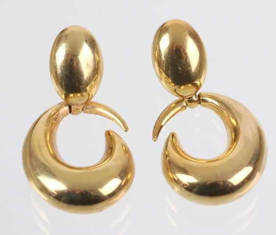Italian Design Earrings - Yellow Gold 333 - photo 1