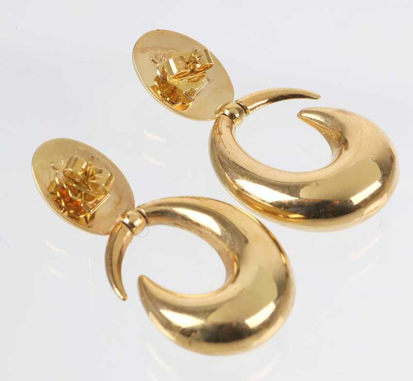 Italian Design Earrings - Yellow Gold 333 - photo 2