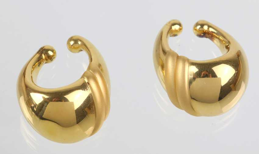 exceptional earrings - yellow gold 375 - photo 1