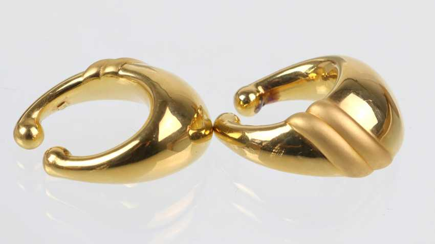 exceptional earrings - yellow gold 375 - photo 2