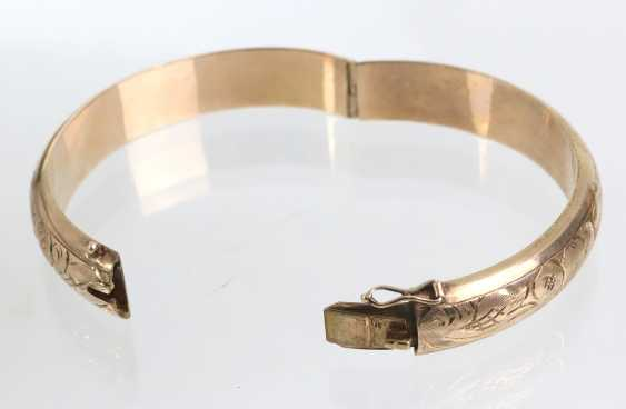 Bangle with Vienna engraving - yellow gold 333 - photo 2