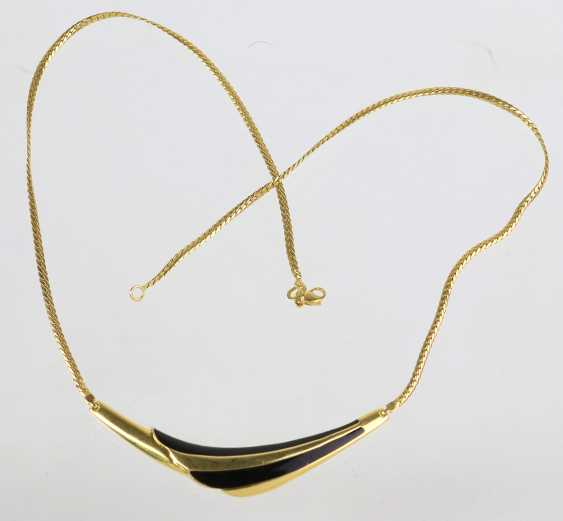 Necklace with enamel yellow gold 585 - photo 1