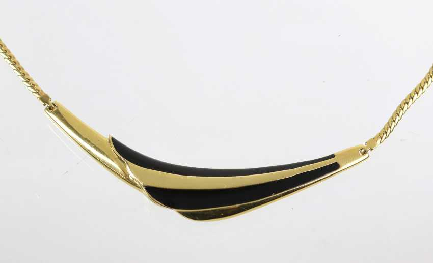 Necklace with enamel yellow gold 585 - photo 2