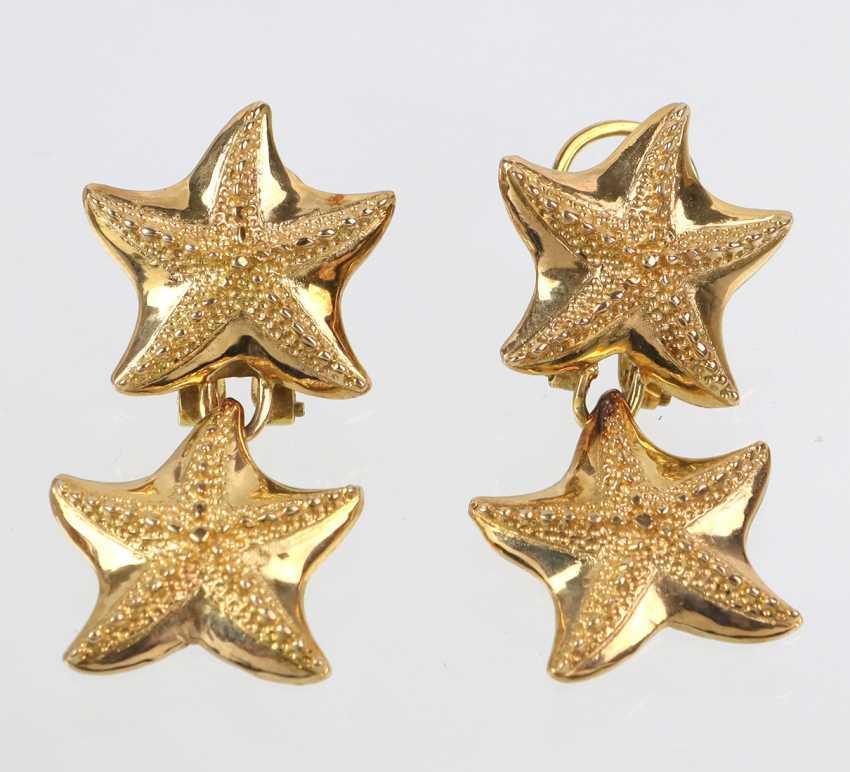 Starfish Stud Earrings - Yellow Gold 585 - photo 1