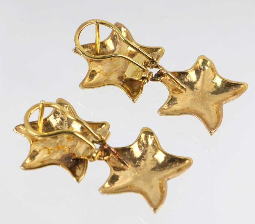 Starfish Stud Earrings - Yellow Gold 585 - photo 3