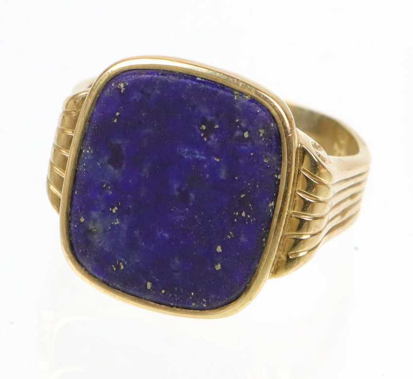 antiker Lapislazuli Ring - Foto 1
