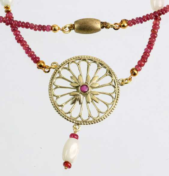 Ruby necklace with Jade - photo 1