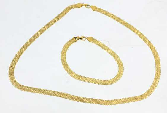 Gold necklace and bracelet - yellow gold 585 - photo 1