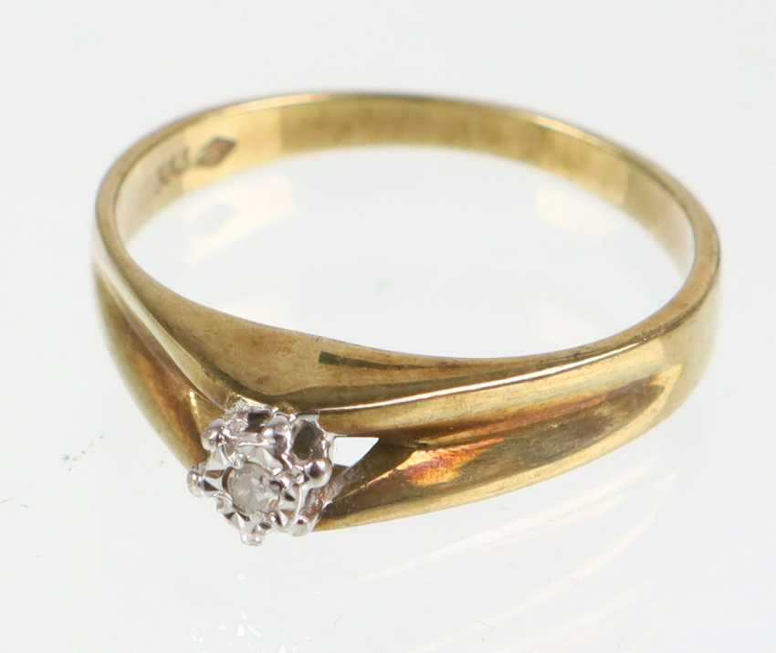 Ring - Yellow Gold 333 Brillant Solitaire - photo 1