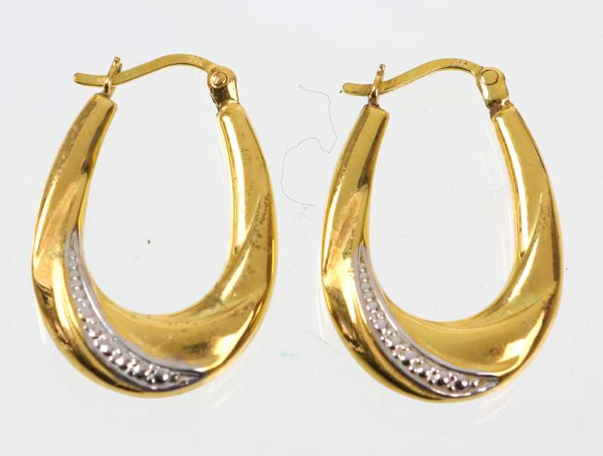 Bicolore Or Boucles D'Oreilles - Or Jaune 333 - photo 1