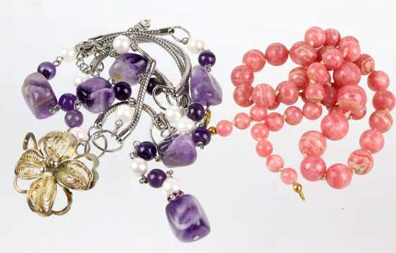 Rhodochrosite and Amethyst chain - photo 1