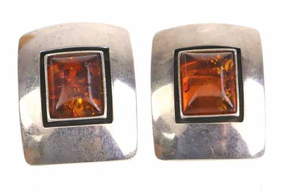 Amber Clip-On Earrings - photo 1