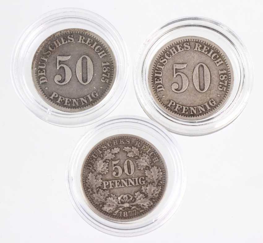 3 x 50 Pfennig Dt. Empire 1875C u. 1877E - photo 1