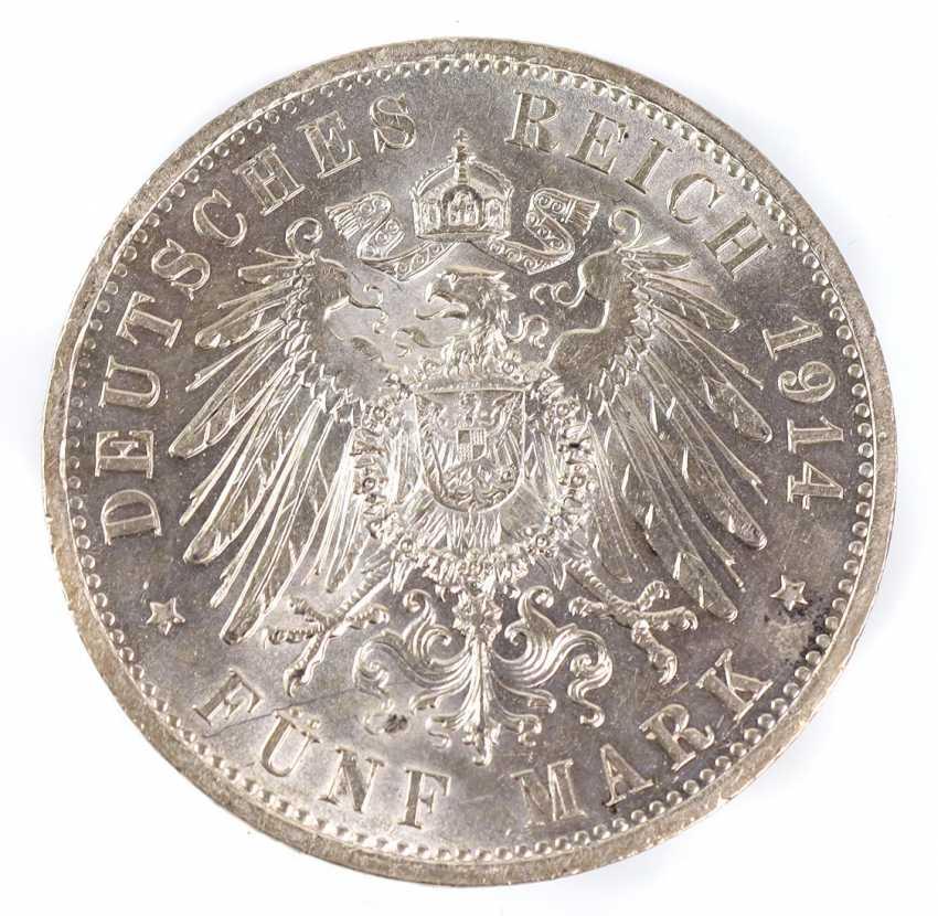 5 Mark Wilhelm II Prussia 1914A - photo 2