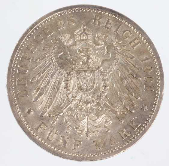 5 Mark German Empire Prussia 1901 - photo 2