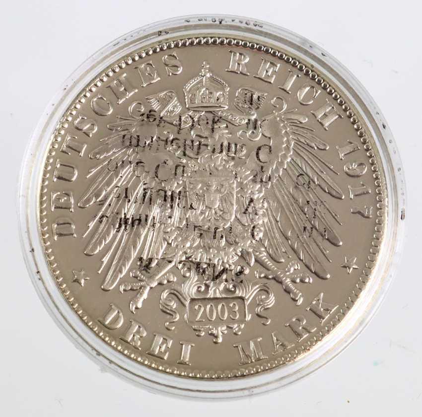 3 Reichsmark Friedrich the wise, 1917 - photo 2