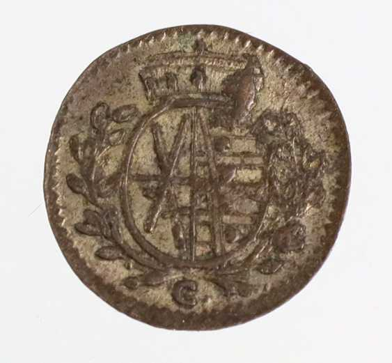 1 Pfennig Saxony 1765C - photo 2