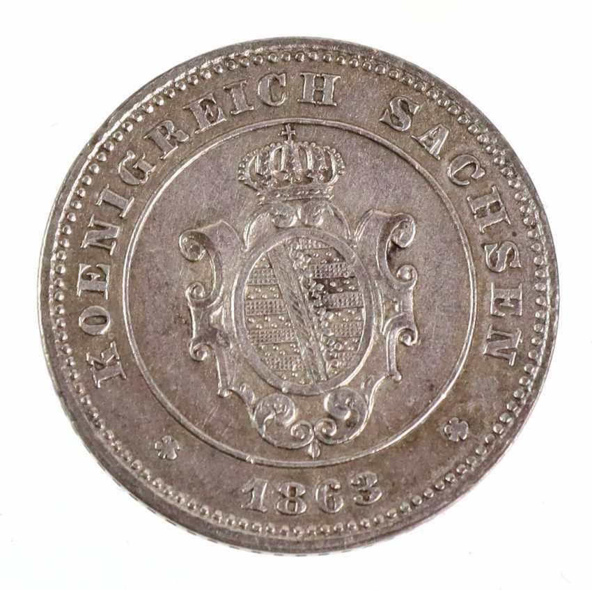 1 new coin Saxony 1863B - photo 2