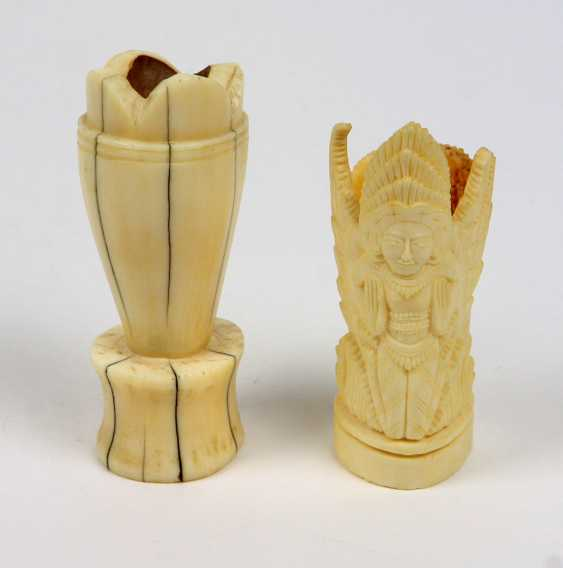 2 carved ornamental vessels - photo 1