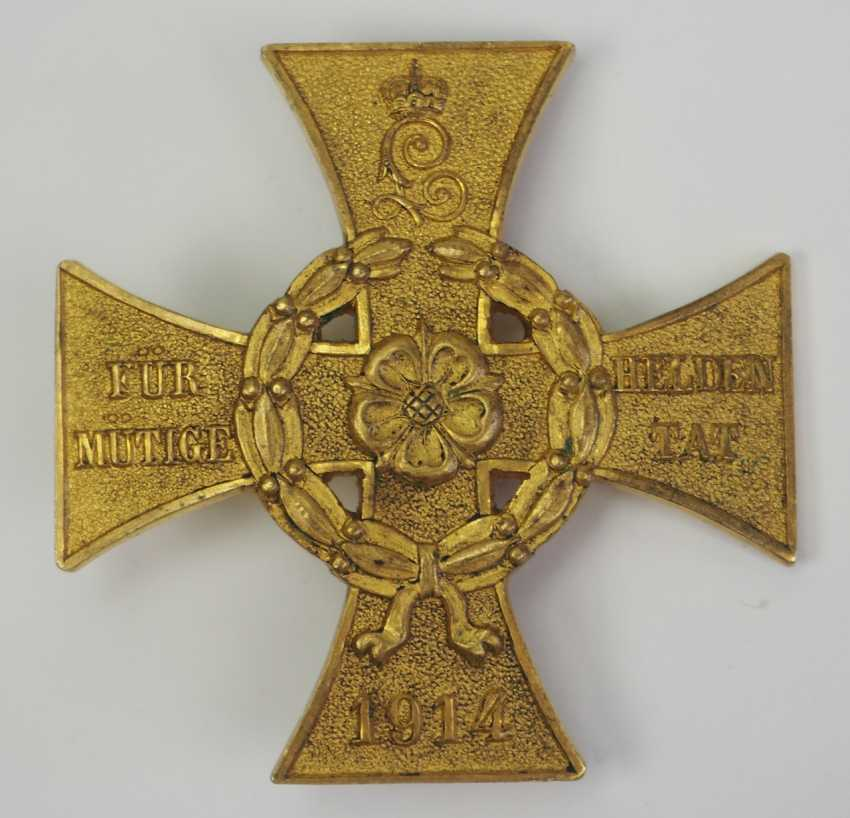 Lippe-Detmold: War Cross of Honor for heroic deed. - photo 1