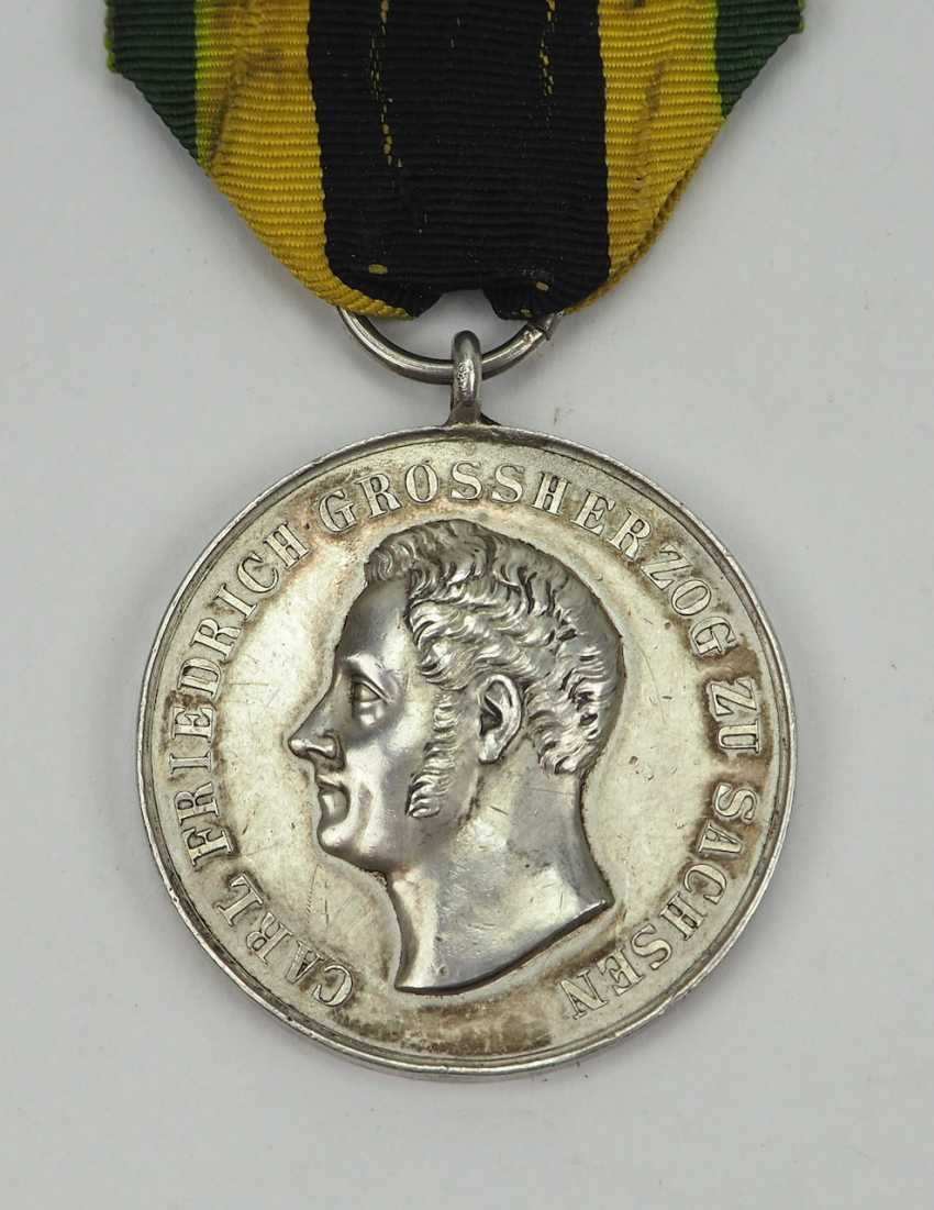 Sachsen-Weimar-Eisenach: Medal of Merit, Carl Friedrich (1834-1857), in silver. - photo 1