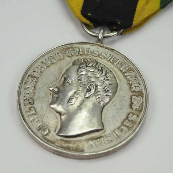 Sachsen-Weimar-Eisenach: Medal of Merit, Carl Friedrich (1834-1857), in silver. - photo 2
