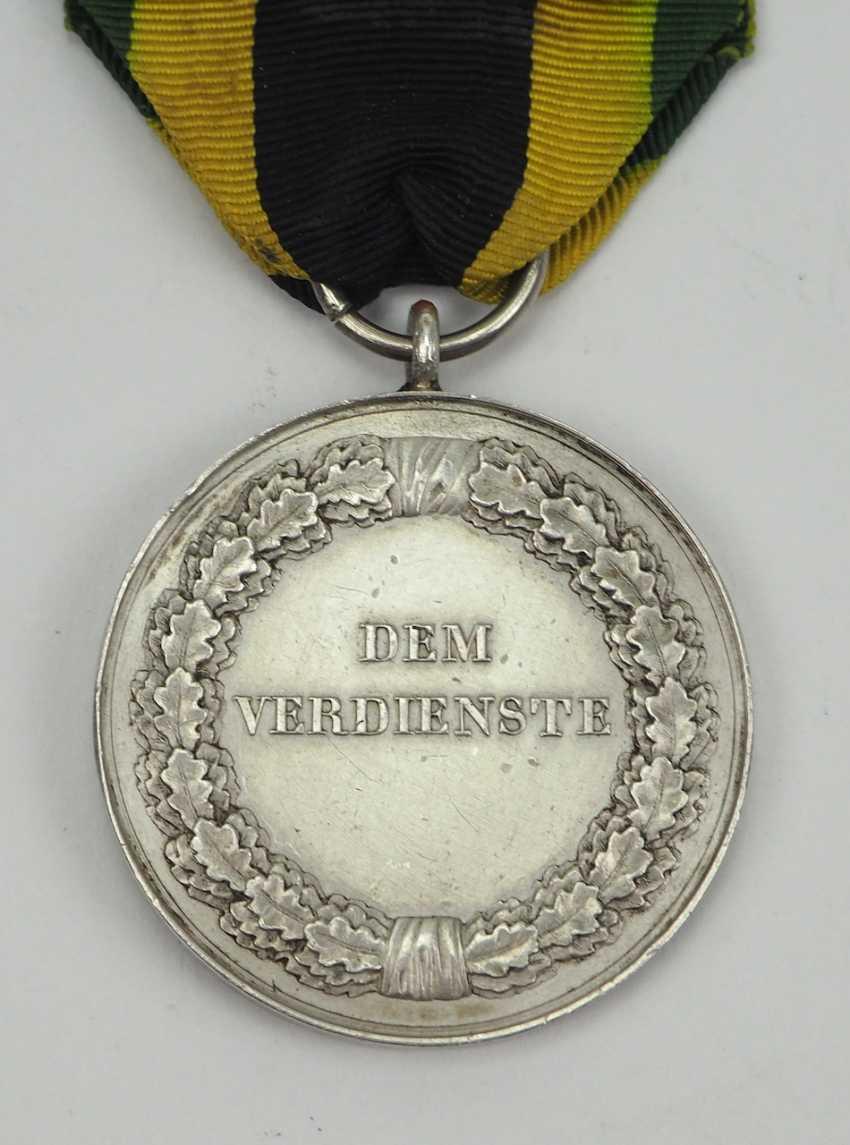 Sachsen-Weimar-Eisenach: Medal of Merit, Carl Friedrich (1834-1857), in silver. - photo 3