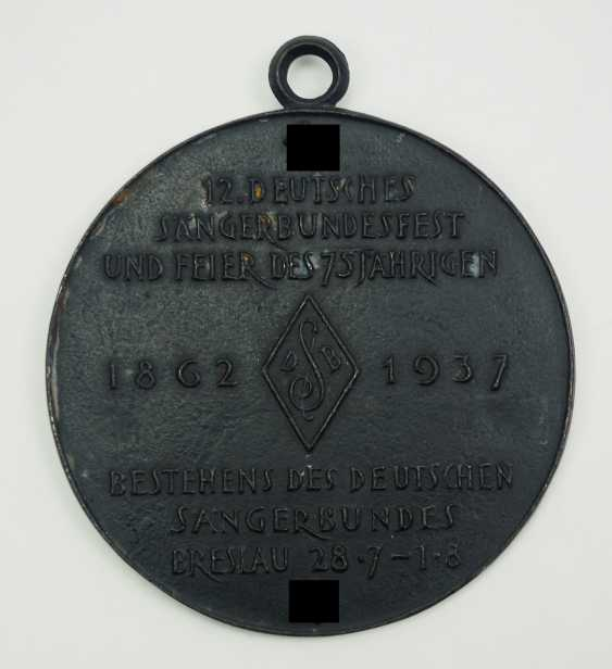 3rd Reich: Plaque of the 12th German Singers' Association in Breslau in 1937. - photo 2