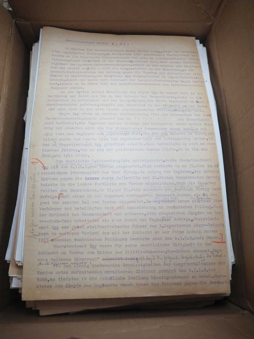 3rd Reich: Collection of approx. 200 military résumés of Wehrmacht generals. - photo 1