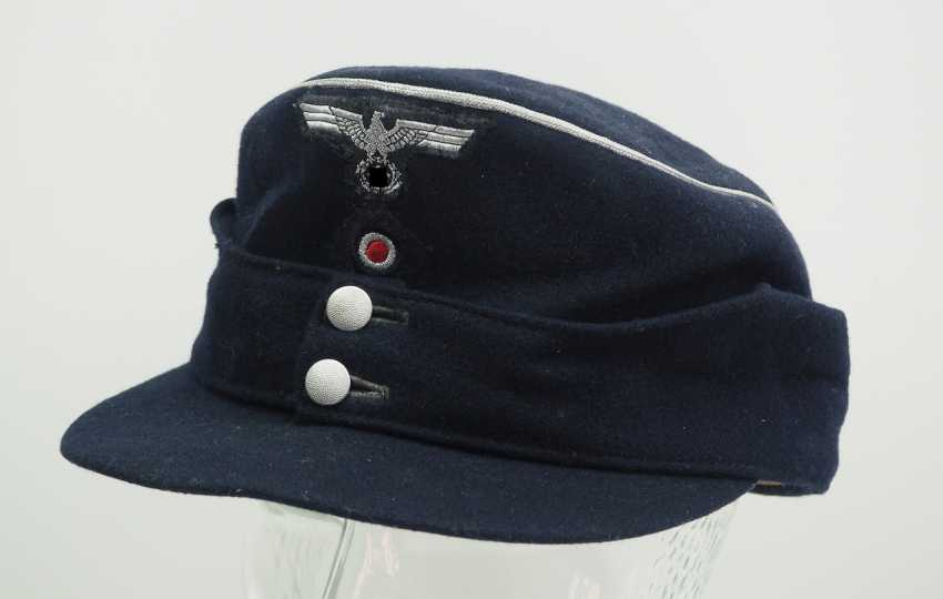 Wehrmacht: M43 field cap for officers of the armored forces. - photo 1