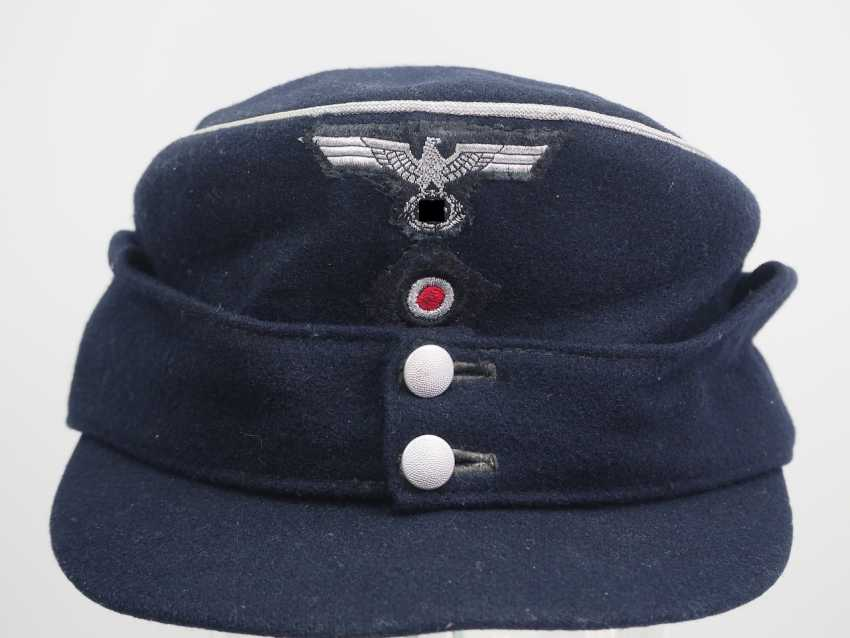 Wehrmacht: M43 field cap for officers of the armored forces. - photo 2