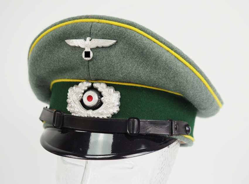 Wehrmacht: visor cap for enlisted men and officers of the intelligence service. - photo 1