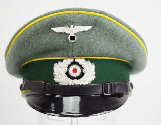 Wehrmacht: visor cap for enlisted men and officers of the intelligence service. - photo 2