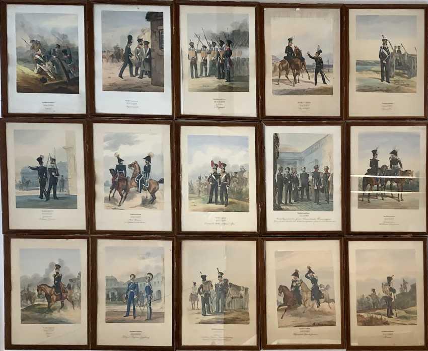 Großherzogtum Baden: Sammlung von 15 Uniform-Lithographien. - photo 1